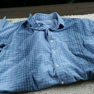Tommy Bahama  Purple Stripe Button Down Shirt